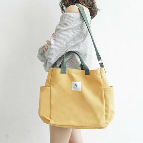 Women Canvas Handbag Large Capacity Shoulder Bags Big Tote T