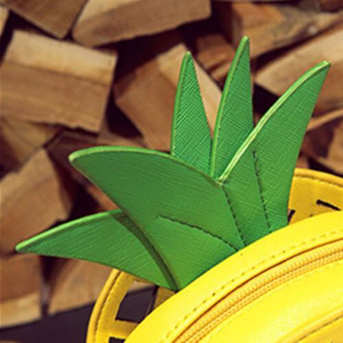 Women Pineapple Shape Bag Messenger Crossbody Tote Purse