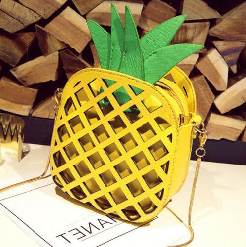 women pineapple shape shoulder bag messenger crossbody
