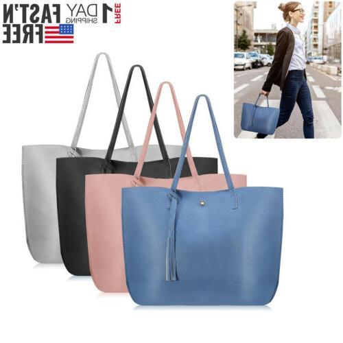 Women Leather Shoulder Ladies Purse Satchel Bag