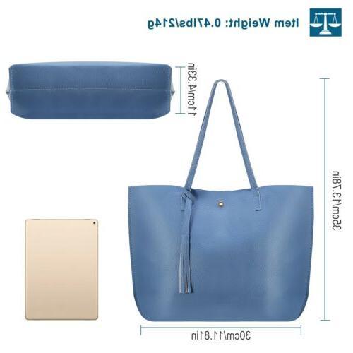 Women PU Handbag Shoulder Purse Messenger Satchel Tote Bag