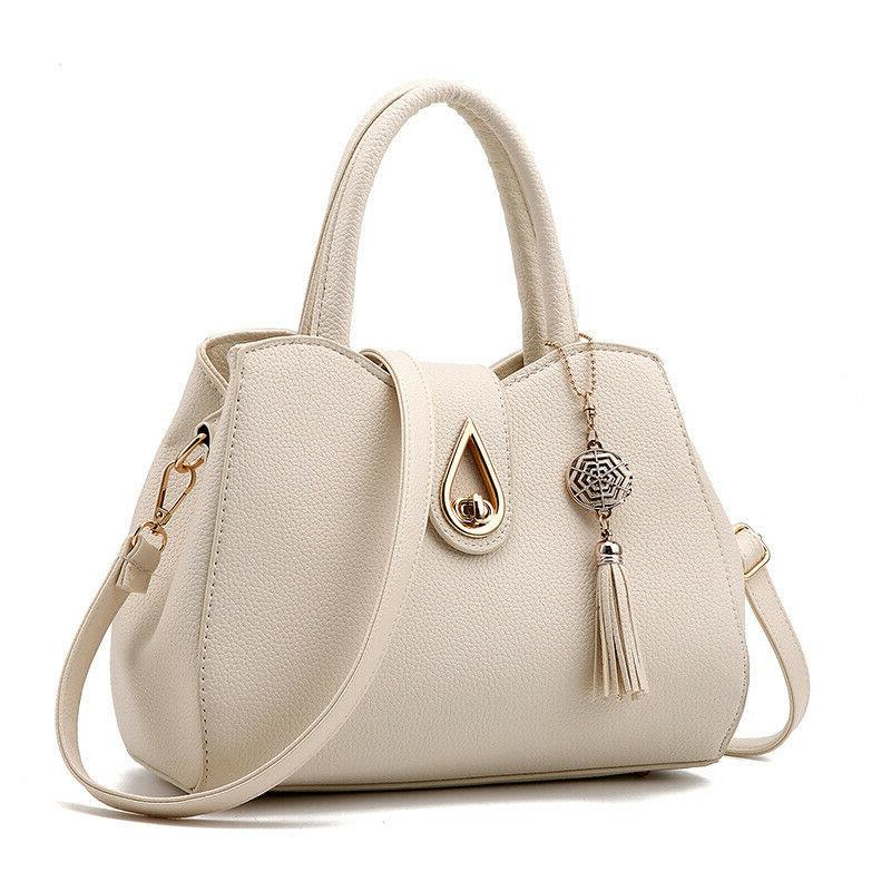 women pu leather handbag shoulder messenger satchel