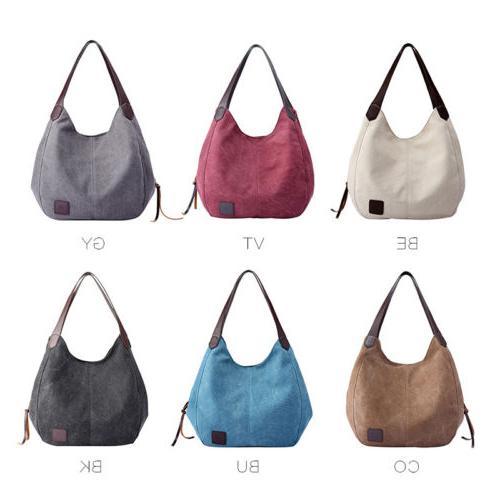 women s casual canvas handbag shoulder tote