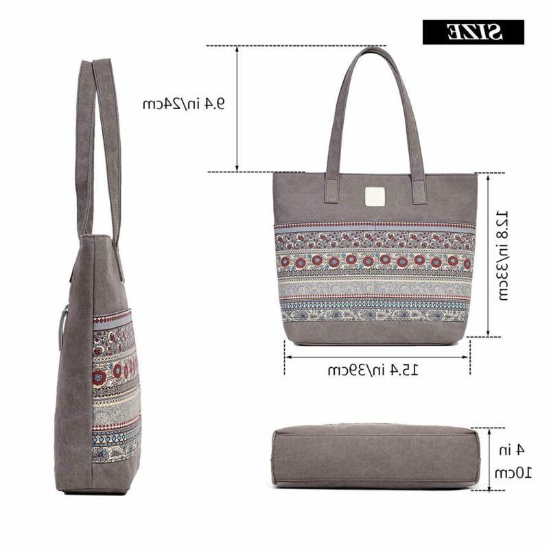 ArcEnCiel Women's Casual Canvas Tote Travel Bag