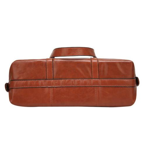 Women's Oiled Leather Lady Briefcase Shoulder