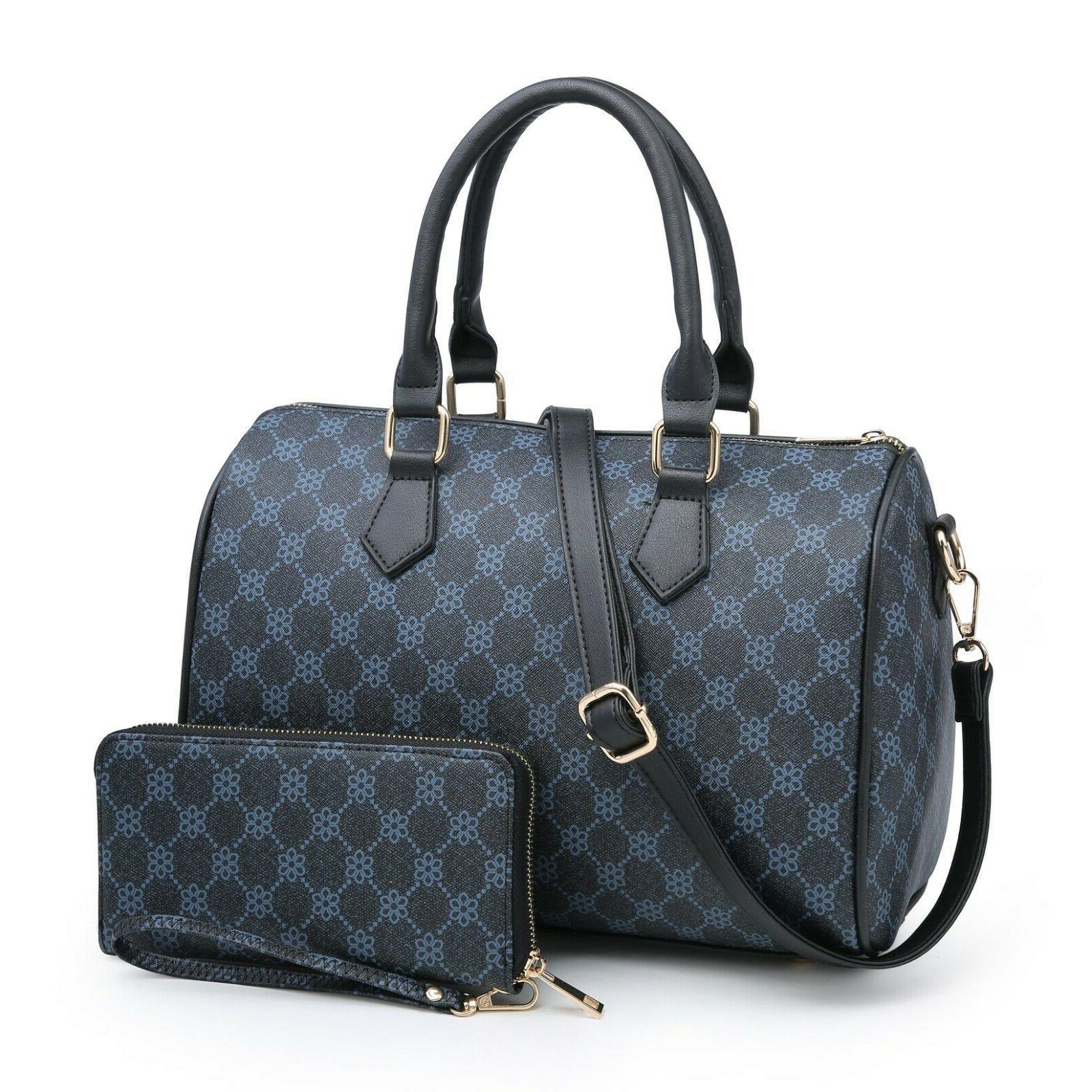 Women's Satchel Handbag Boston Shoulder Set