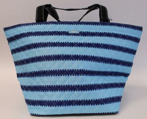 women s stripe printed quilted weekender tote