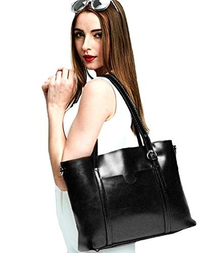 YALUXE Women's Soft Leather Large 2