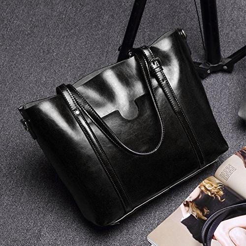 YALUXE Vintage Soft Leather Large Black 2