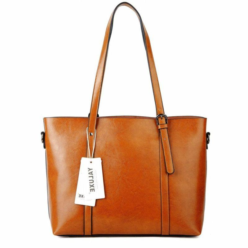 028120ba9 YALUXE Women's Soft Leather Large. YALUXE Vintage Soft Tote Large Shoulder  Brown
