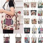 Women Shoulder Bag Embroidered Owl Tote Handbag Postman Pack
