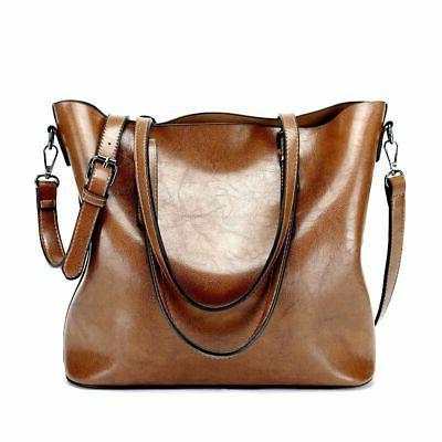 Women Oiled Handbag Messenger Bag Crossbody