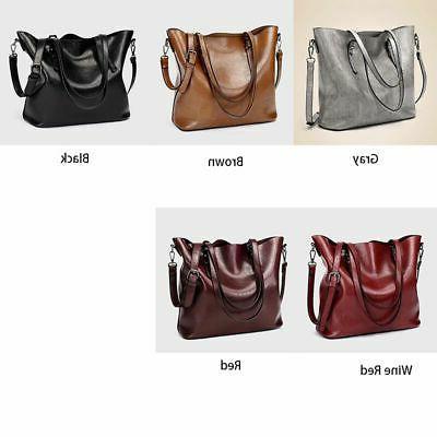 women soft oiled leather handbag messenger shoulder