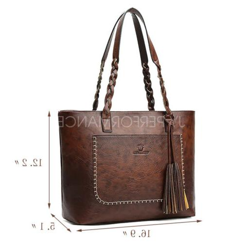 YOLANDO Women Tote Leather Hobo Purse Messenger 24