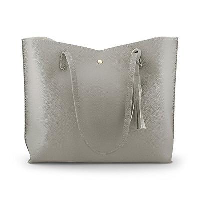women tote bag tassels faux leather shoulder