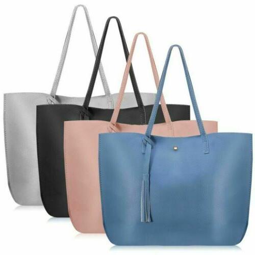 Women Tote Bags PU Leather Lady Handbags Purse