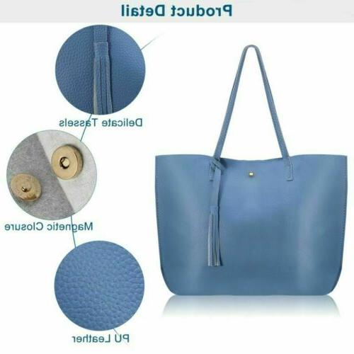 Women Tote Bags Leather Shoulder Handbags Capacity