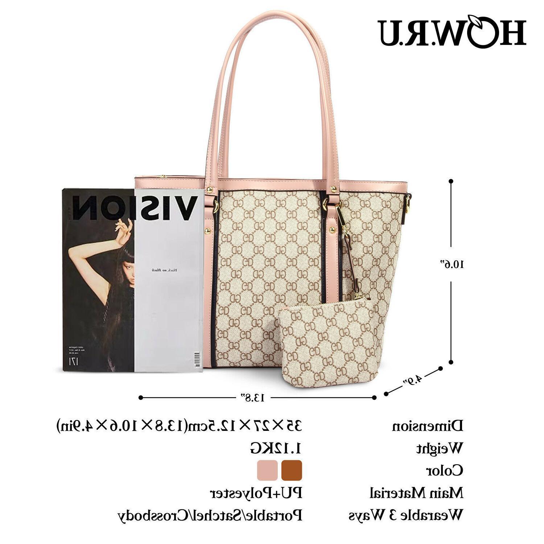 Women Tote Shoulder Bag Large PU Leather Shoulder Purse