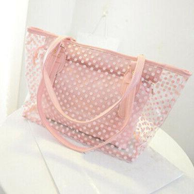 New Women Transparent Handbag Shoulder Bag Clear Jelly Purse