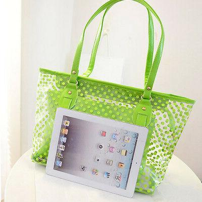 Women Transparent Bag Clear Jelly Purse PVC Beach