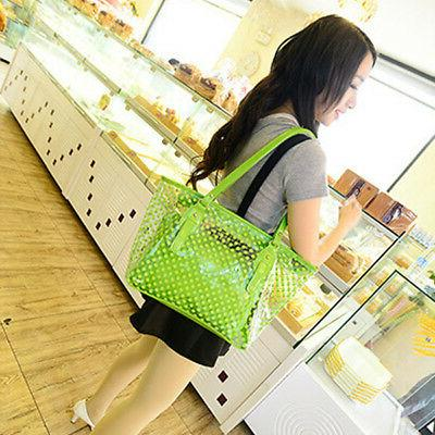 Women Transparent Bag PVC Beach Tote