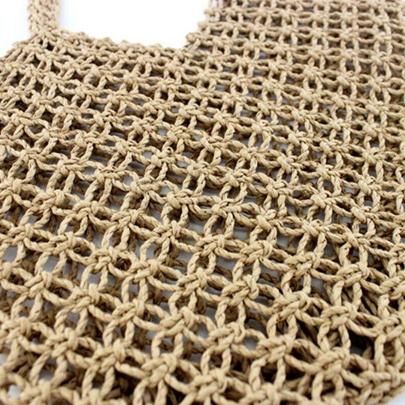 Women Handbag Totes Beach Summer Rattan Basket Bag