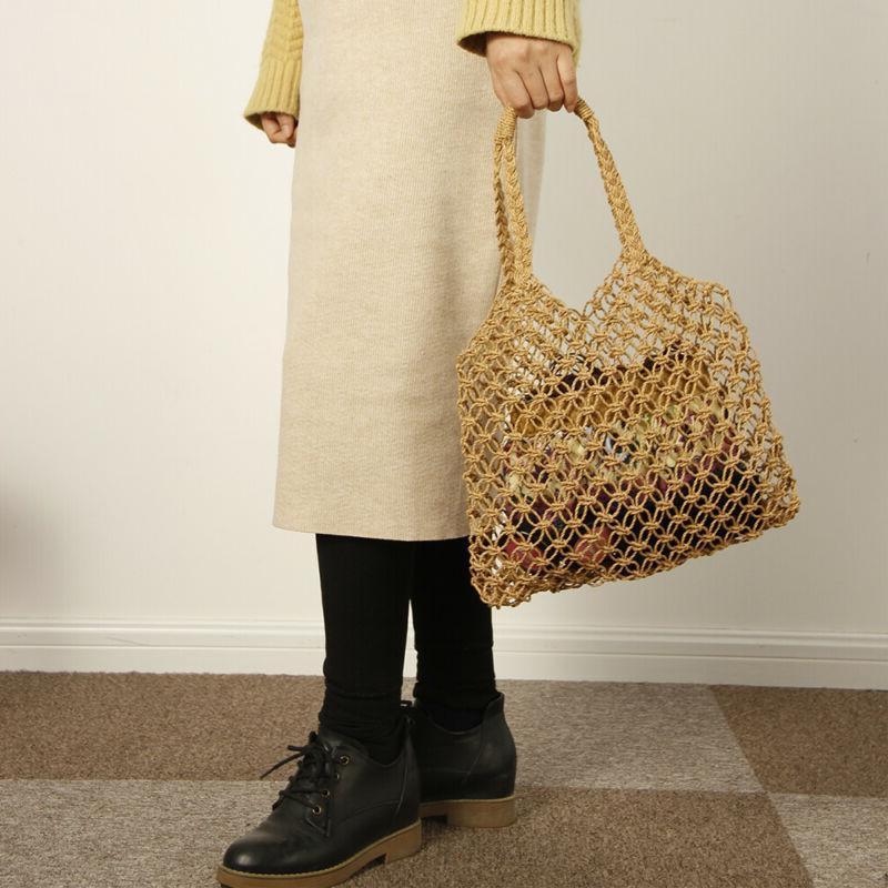 Women Bags Totes Woven Summer Rattan