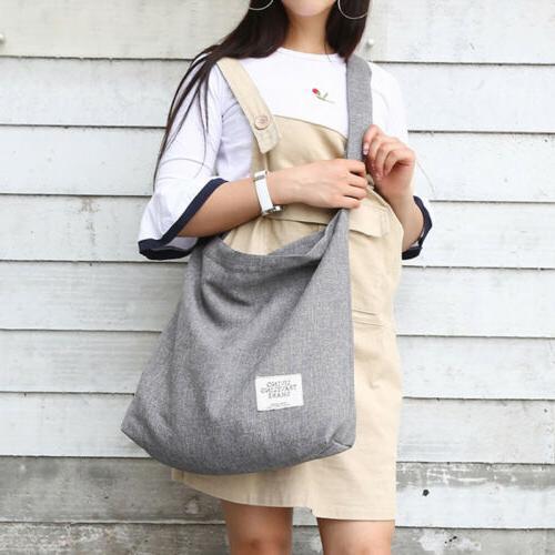 Women Vintage Canvas Hobo Bag Large Tote Messenger Shoulder