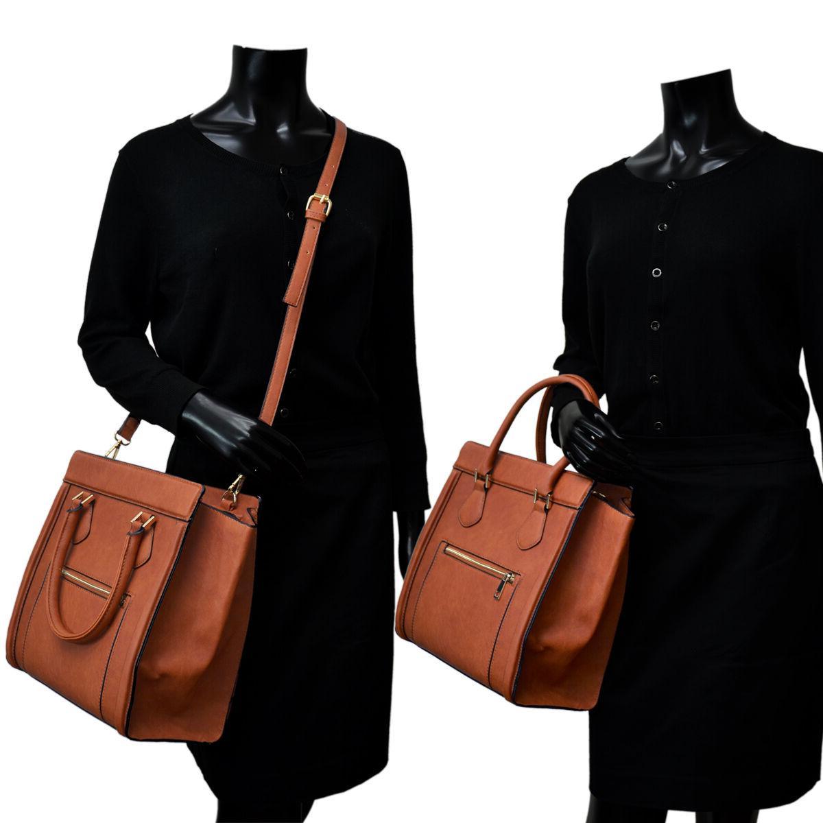 Dasein Leather Satchels Shoulder Bags Purse