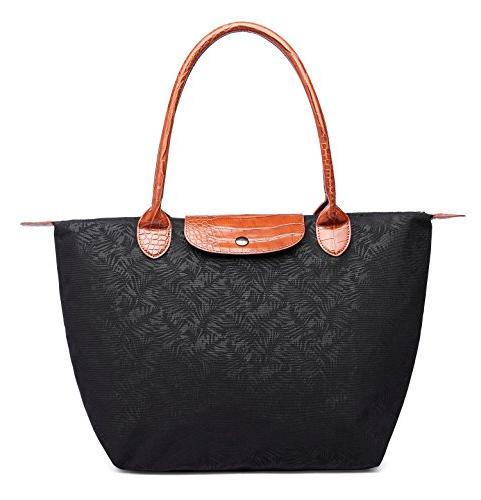 Crest Design Women's Stylish Waterproof Nylon Travel Shoulder Beach Bag with
