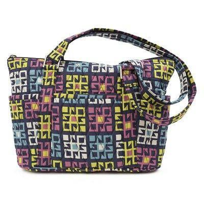 VHC Women's Tote Bohemian Shoulder Handbag Quilted Purse Zip Pockets