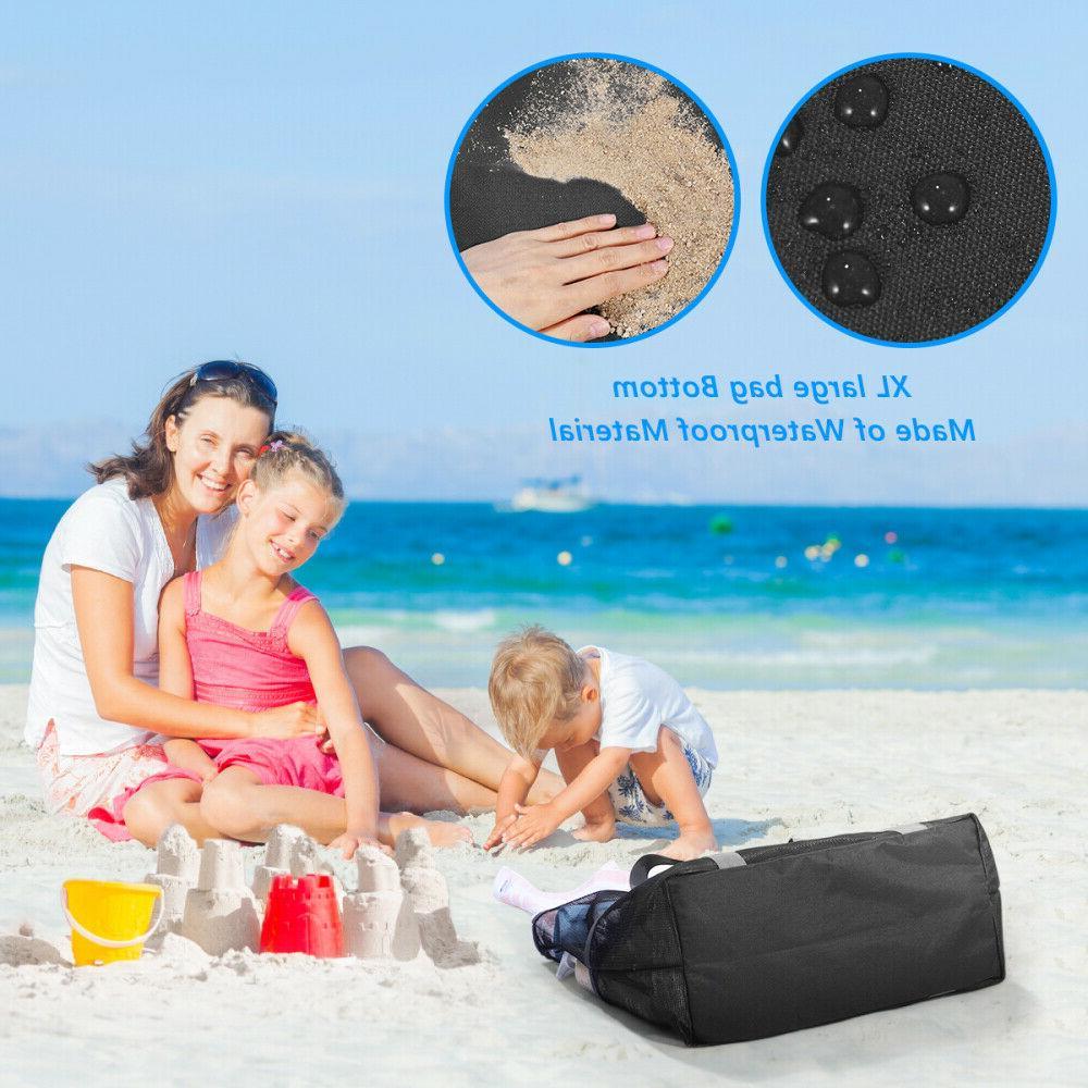 Swimming Mesh Shopping Bag Sand Away New