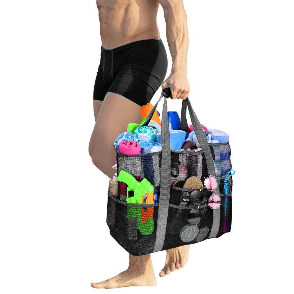 Swimming Bag Shopping Sand Away New