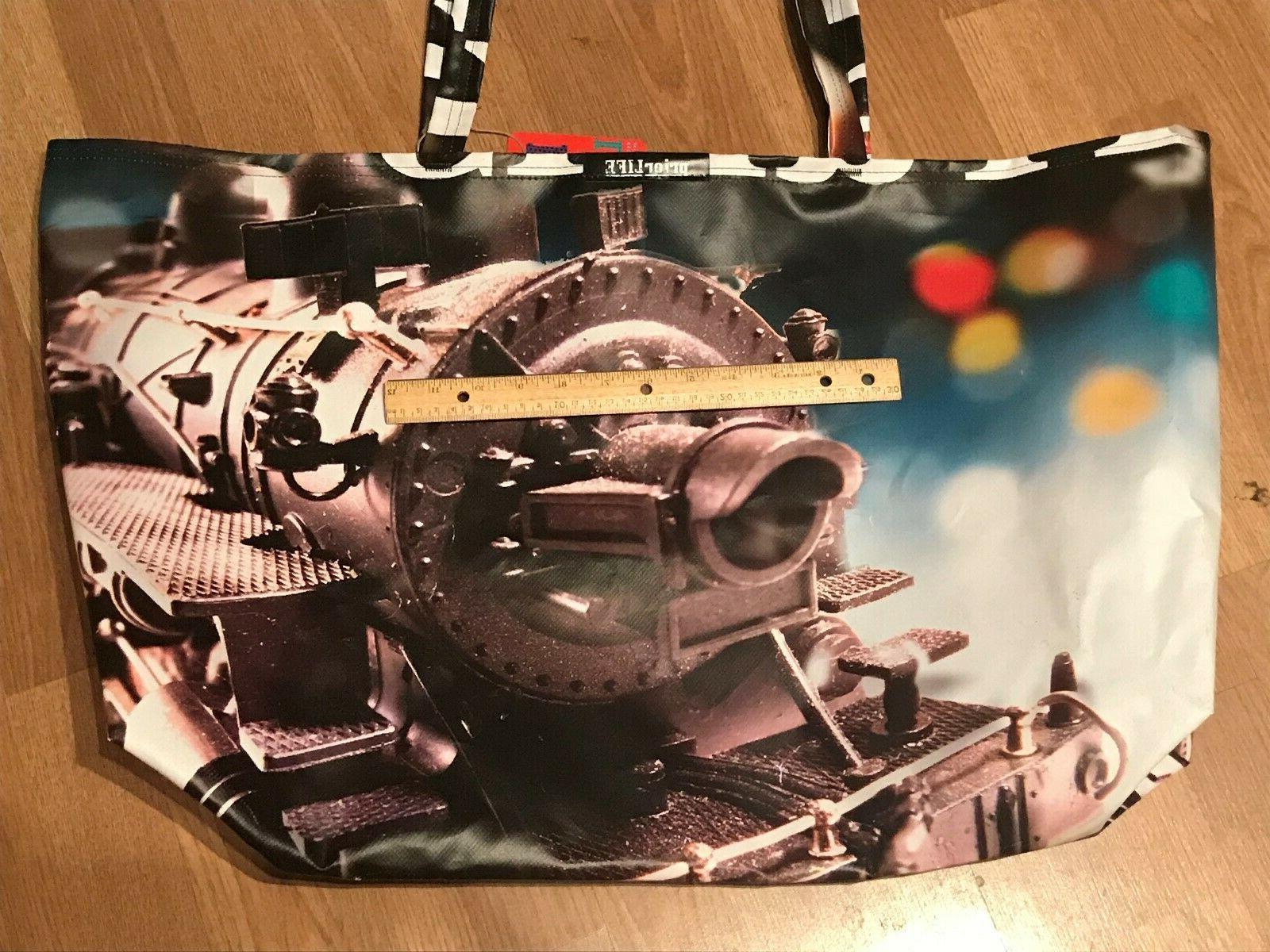 XXL Train Tote Bag Prior Life in USA Traverse