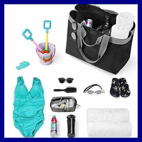 CHICECO XXL Women's Bag Gym Work Waterproof Nylon Beach BLACK GREY