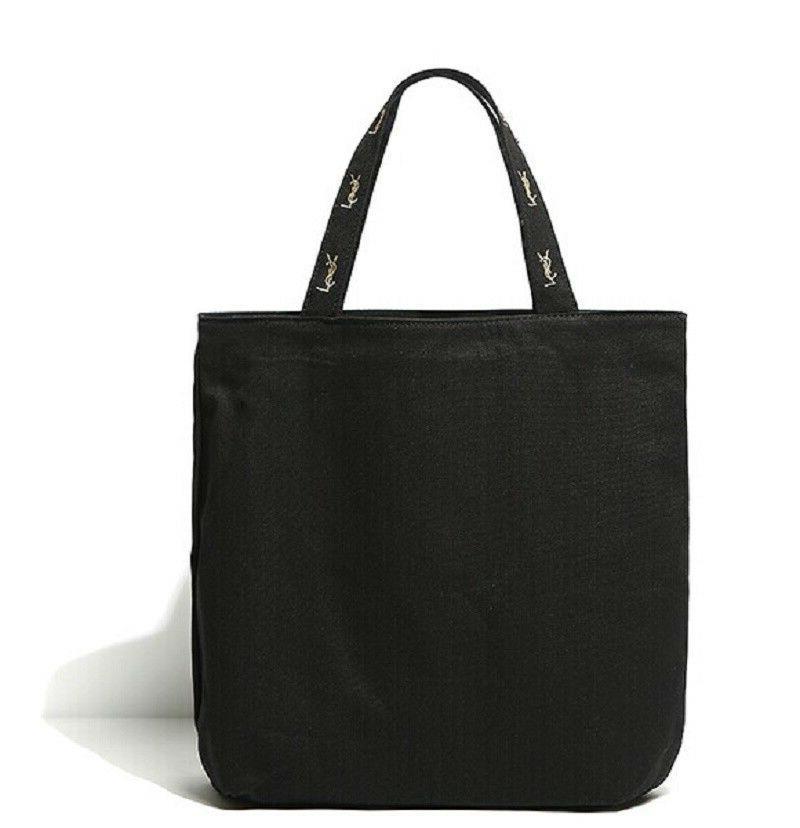 Yves Shopping Tote Bag Logo Black Eco-Friendly NEW