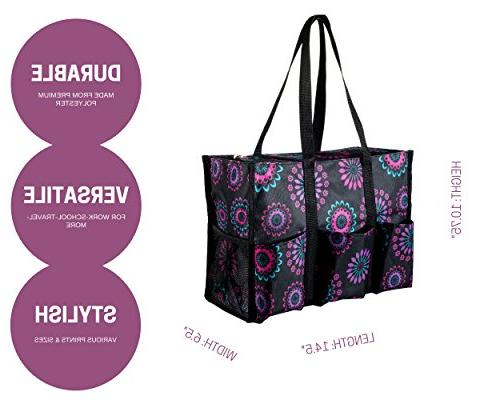 Pursetti Tote with Multiple Exterior for Working Nurses, Teachers