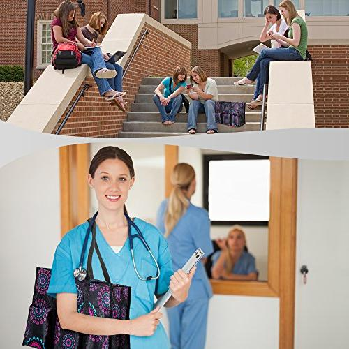 Pursetti Organizing Tote Multiple Exterior & Interior for Working Teachers and