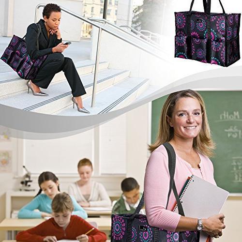 Pursetti Tote Exterior Pockets for Teachers