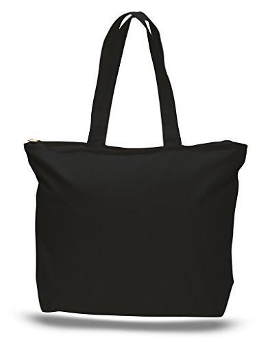 zip heavy canvas tote bag