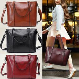 Ladies Oil Wax Leather Tote Purse Messenger Crossbody Bag Ha