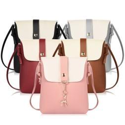 Ladies Small Satchel Leather Handbag Crossbody Shoulder Mess