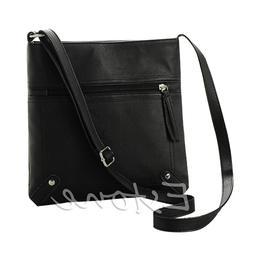 Lady Women PU Leather Handbag Shoulder Bag Tote Purse Messen