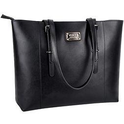 ZYSUN Laptop Bag,Women PU Leather Stylish Laptop Tote Briefc