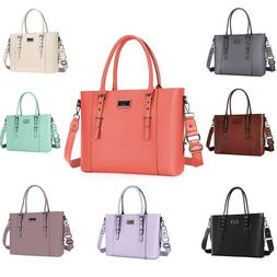 Mosiso Laptop Leather Tote Bag Handbag Women Shoulder Messen