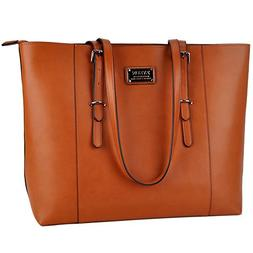 Laptop Tote,Women 15.6 in PU Leather Professional Laptop Bag