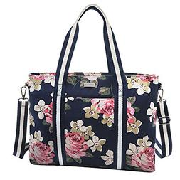 MOSISO Laptop Tote Bag ,Canvas Classic Multifunctional Work