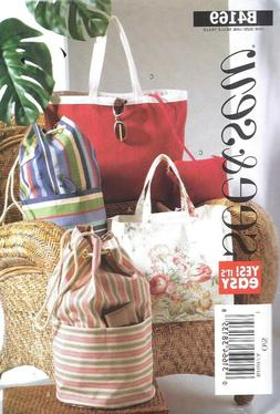 Large Bags Tote Market Purse Hobo Bucket Bag Sewing Pattern