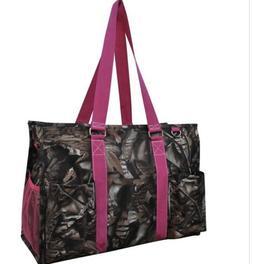 NGIL Large Camo Camouflage Pink Zip Up Organizing Tote Utili