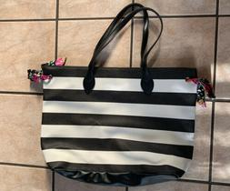 Large Canvas Tote Bag-Beach Bag-Travel Picnic Gym Black and